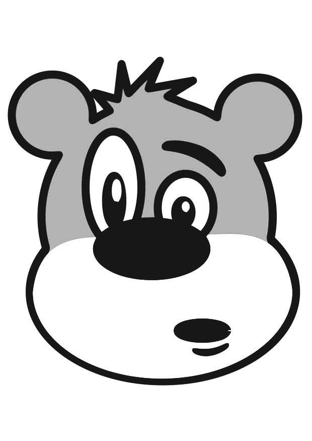Disegno da colorare testa di orso cat 19399 for Cabina di montagna grande orso