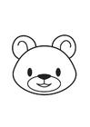 Disegno da colorare testa di orso