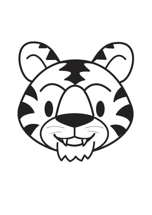 Disegno da colorare testa di tigre cat 17909 for Immagini tigre da colorare
