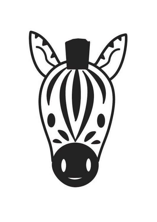 Disegno da colorare testa di zebra  305x431 Zebra Head Coloring Pages