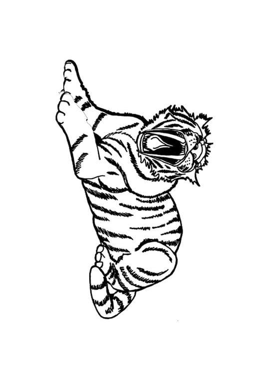 Disegno da colorare tigre cat 9695 for Immagini tigre da colorare