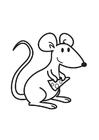 Disegno da colorare topo con formaggio