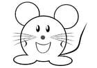 Disegno da colorare topo