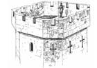 Disegno da colorare torre di un castello
