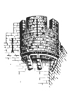 Disegno da colorare torre