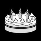 Disegno da colorare torta di compleanno