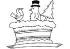 Disegno da colorare Torta di Natale