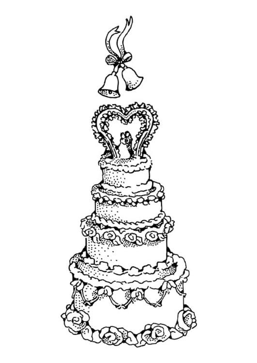 Disegno Da Colorare Torta Nunziale Cat 17388