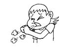Disegno da colorare tossire