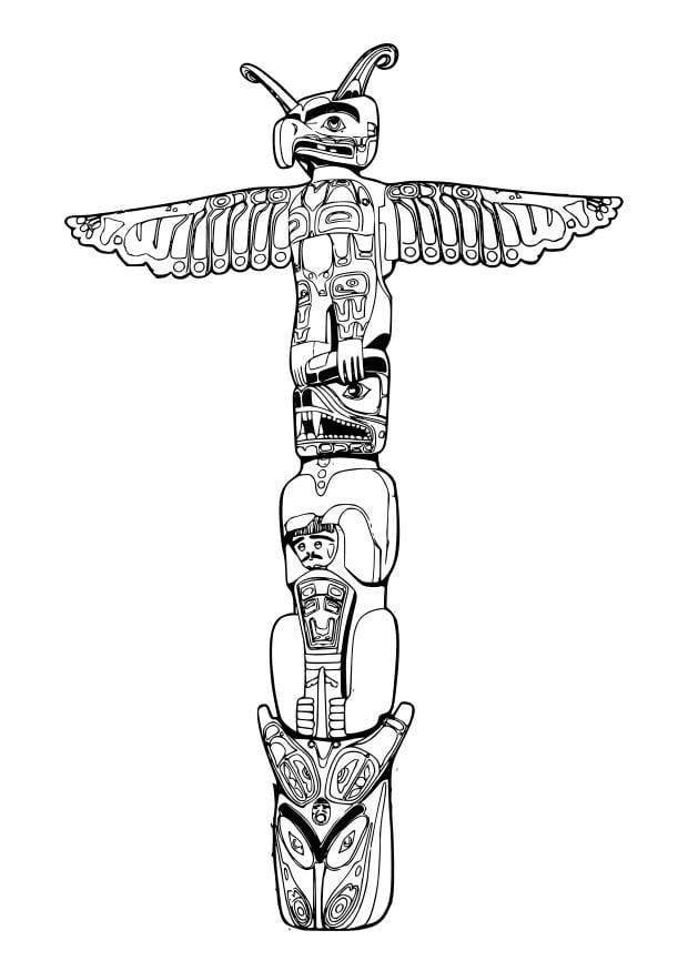 disegno da colorare totem