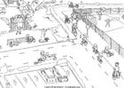 Disegno da colorare traffico