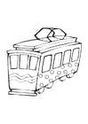 Disegno da colorare tram