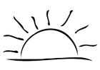 Disegno da colorare tramonto