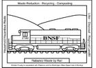Disegno da colorare treno dei rifuiti