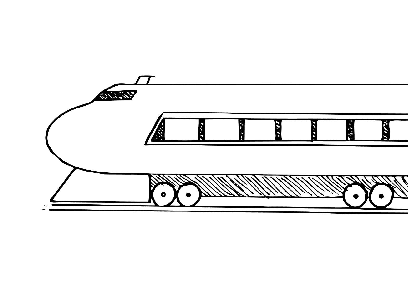 Disegno Da Colorare Treno Cat 12288