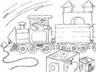 Disegno da colorare treno giocattolo