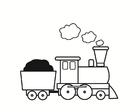 Disegno da colorare treno