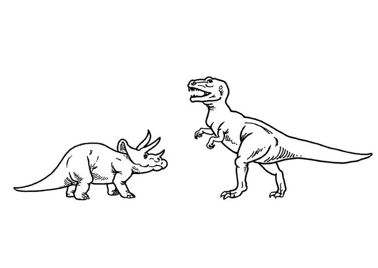 T Rex Disegni Da Colorare.Disegno Da Colorare Triceratops E T Rex Disegni Da Colorare E Stampare Gratis