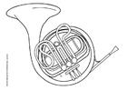 Disegno da colorare tromba