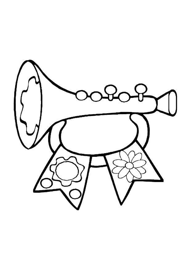 Disegno Da Colorare Trombetta Giocattolo Cat 10609 Images