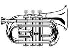 Disegno da colorare trombetta