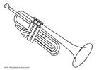 Disegno da colorare trompetta