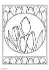 Disegno da colorare tulipani
