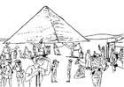 Disegno da colorare turismo - Egitto