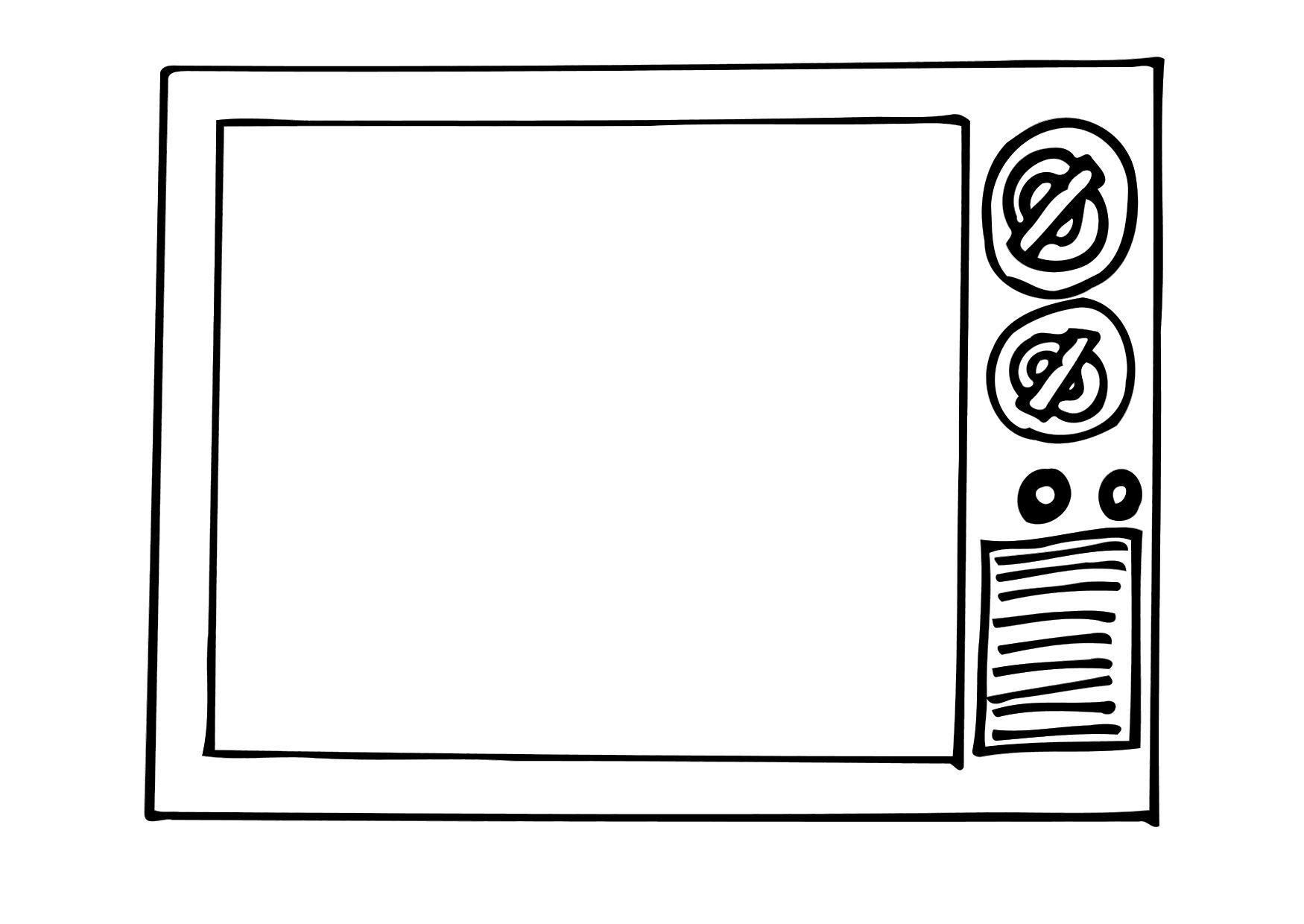 Disegno Televisione Da Colorare.Disegno Da Colorare Tv Disegni Da Colorare E Stampare Gratis