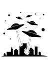 Disegno da colorare UFO
