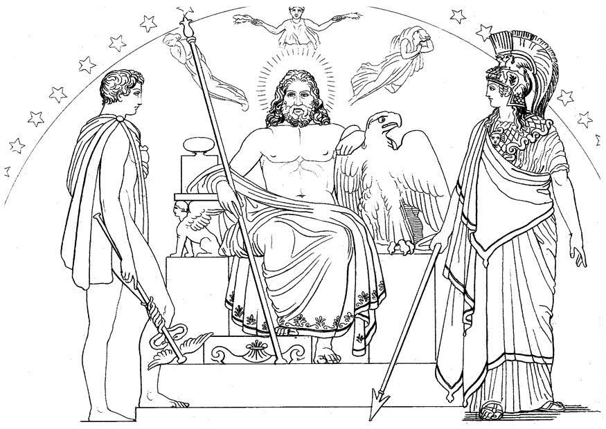 Disegno Da Colorare Ulisse Ermes Zeus E Athena Cat 17476