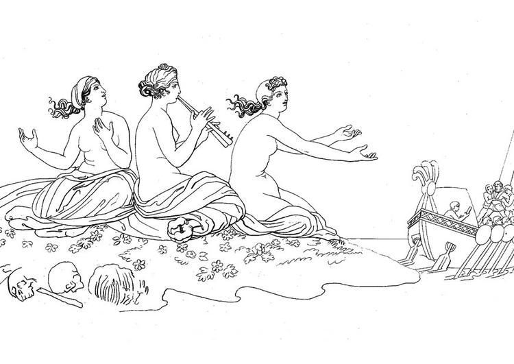 Disegno Da Colorare Ulisse Le Sirene Cat 17481