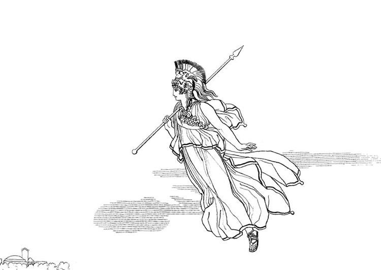 Disegno Da Colorare Ulisse Minerva Cat 18658