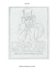 Disegno da colorare Uncle Sam
