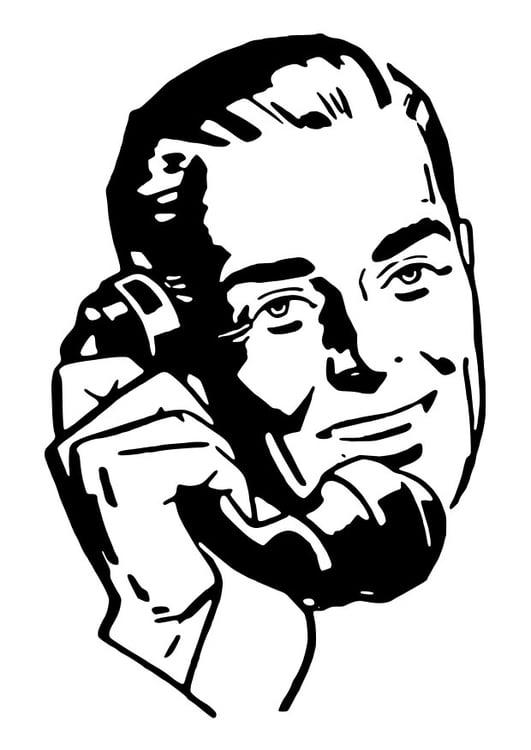 Disegno Da Colorare Uomo Al Telefono Cat 28124 Images