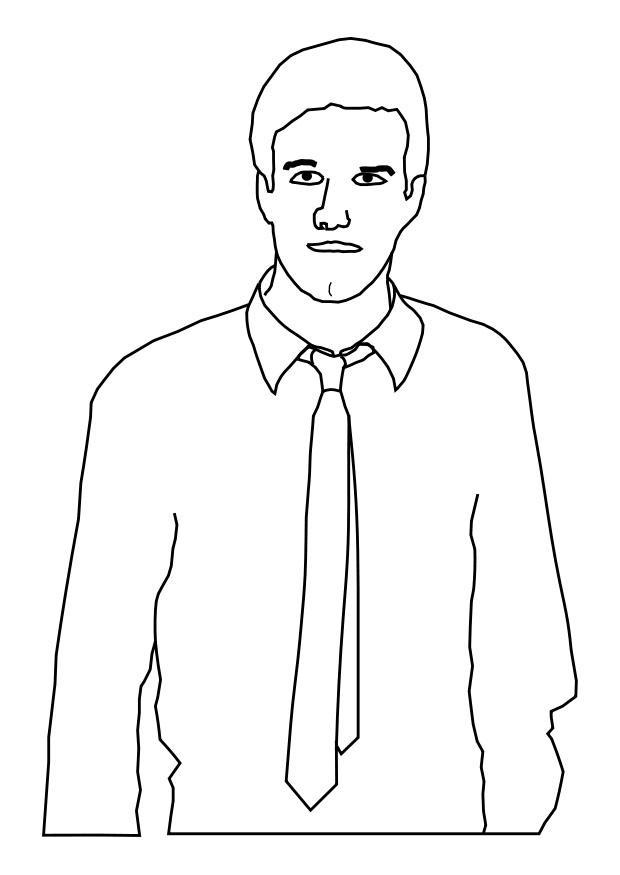 Disegno Da Colorare Uomo Con Cravatta Disegni Da Colorare E