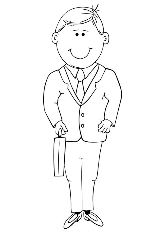 Disegno da colorare uomo d 39 affari cat 19320 for Disegno pagliaccio da colorare