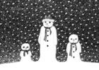 Disegno da colorare uomo di neve