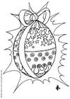 Disegno da colorare uovo di Pasqua