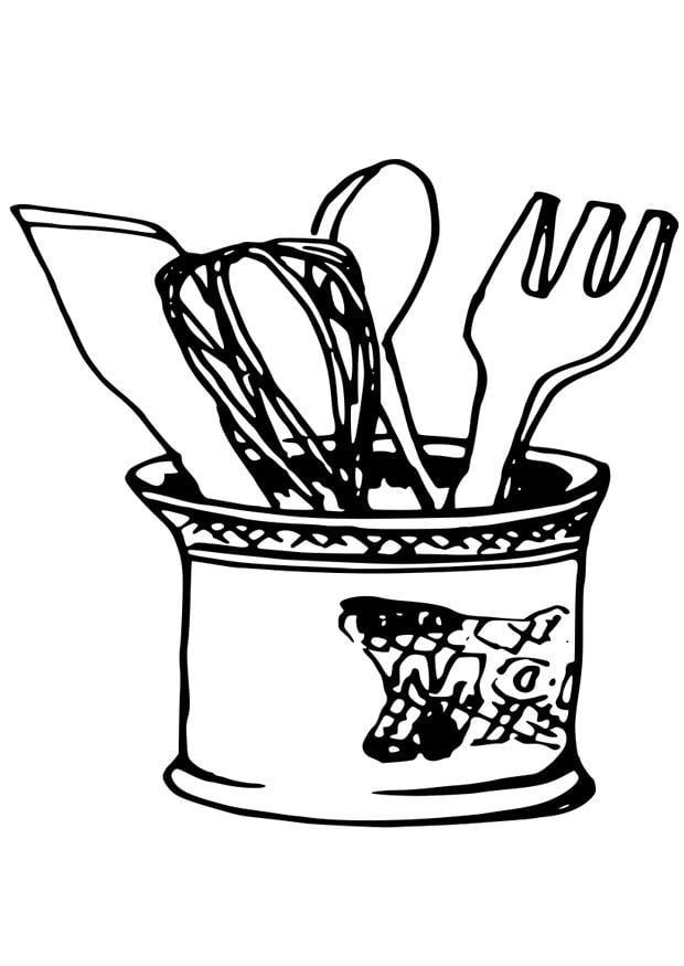 Disegno da colorare utensili da cucina cat 19079 for Disegni da cucina enormi