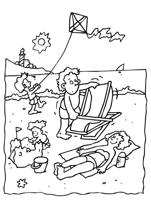 Disegno Da Colorare Vacanze Al Mare Cat 8069