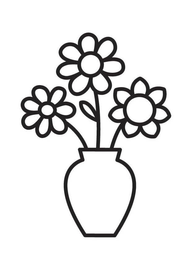 Disegno da colorare vaso con fiori cat 18334 for Disegno vaso da colorare
