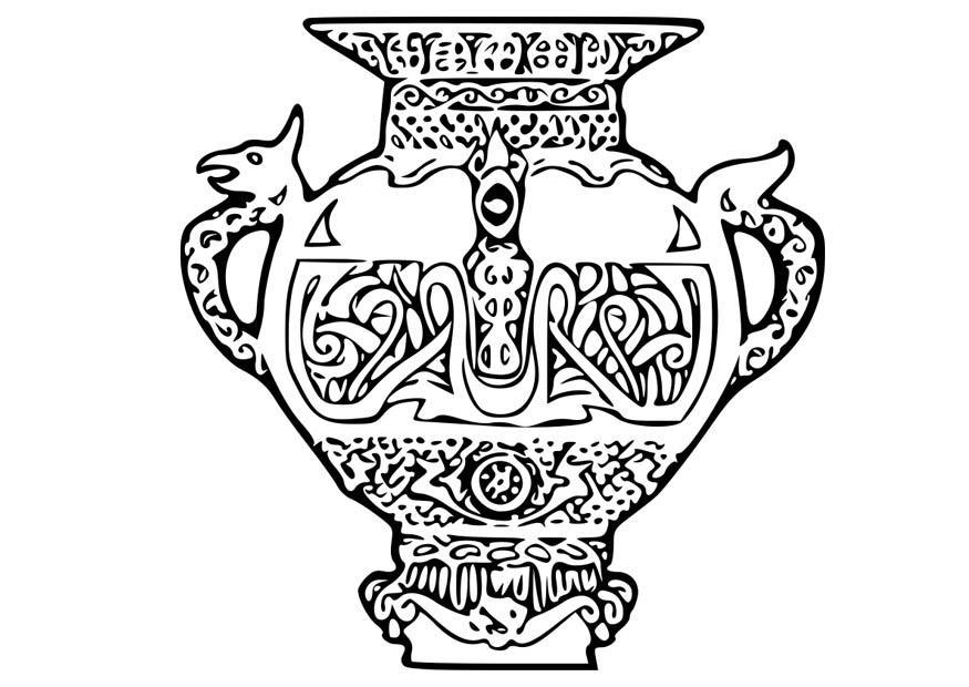 Disegno da colorare vaso vichingo cat 18668 for Disegno vaso da colorare