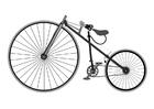 Disegno da colorare velocipede