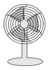 Disegno da colorare ventilatore