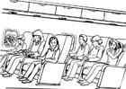 Disegno da colorare viaggiare in aereo