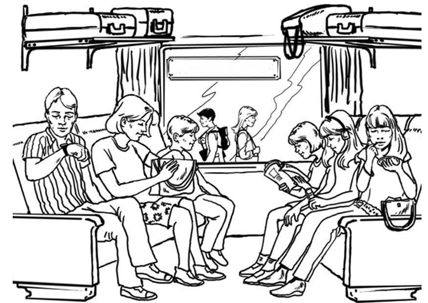 disegno da colorare viaggiare - treno
