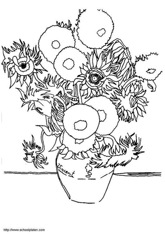 Disegno Da Colorare Vincent Van Gogh I Girasoli Cat 6760