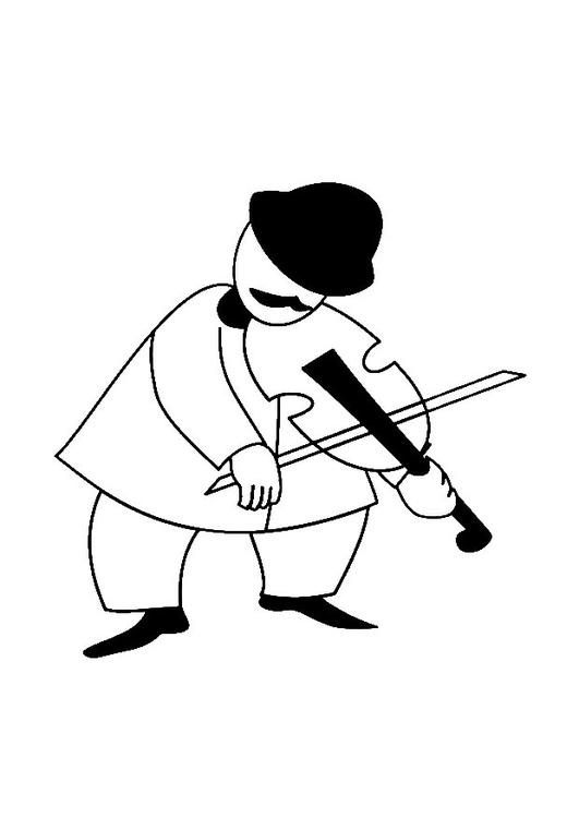 Disegno Da Colorare Violinista Cat 28483