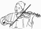 Disegno da colorare violinista